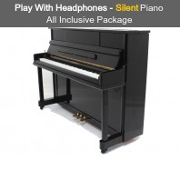 Steinhoven SU 112 Polished Ebony Upright Piano with FreeKey Silent System All Inclusive Package