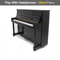 Steinhoven SU 112 Polished Ebony Upright Piano with FreeKey Silent System