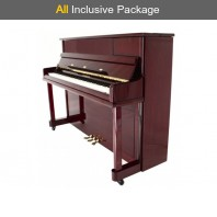 Steinhoven SU 112 Polished Mahogany Upright Piano All Inclusive Package