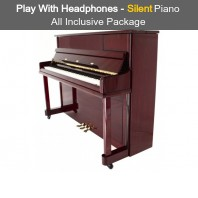 Steinhoven SU 112 Polished Mahogany Upright Piano with FreeKey Silent System All Inclusive Package