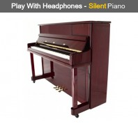 Steinhoven SU 112 Polished Mahogany Upright Piano with FreeKey Silent System
