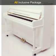 Steinhoven SU 112 Polished White Upright Piano All Inclusive Package