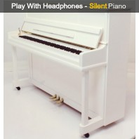 Steinhoven SU 112 Polished White Upright Piano with FreeKey Silent System