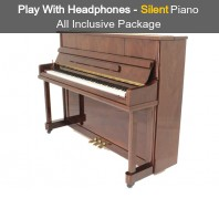 Steinhoven SU 112 Polished Walnut Upright Piano with FreeKey Silent System All Inclusive Package
