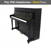 Steinhoven SU 113 Polished Ebony Upright Piano with FreeKey Silent System