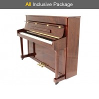 Steinhoven SU 113 Polished Walnut Upright Piano All Inclusive Package