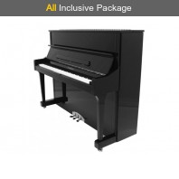 Steinhoven SU 121 Polished Ebony Upright Piano All Inclusive Package