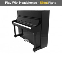 Steinhoven SU 121 Polished Ebony Upright Piano with FreeKey Silent System