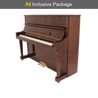 Steinhoven SU 121 Polished Mahogany Upright Piano All Inclusive Package