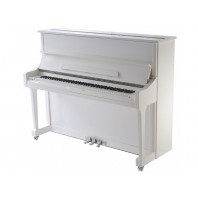 Steinhoven SU 121 Polished White Upright Piano with FreeKey Silent System
