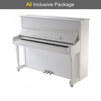 Steinhoven SU 121 Polished White Upright Piano All Inclusive Package