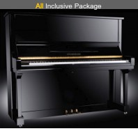 Steinhoven SU133 Polished Ebony Upright Piano All Inclusive Package