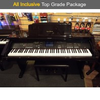 Used Technics PR902 Polished Mahogany Digital Piano Complete Package
