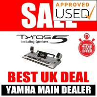 Used Yamaha Tyros 5 61 Keyboard & Speakers