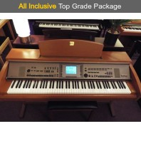 Used Yamaha CVP305 Cherry Digital Piano Complete Package