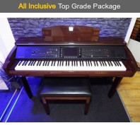 Used Yamaha CVP309 Polished Mahogany Digital Piano Complete Package