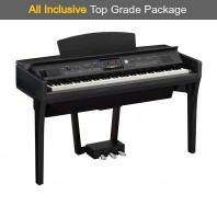 Used Yamaha CVP609 Black Walnut Digital Piano Complete Package