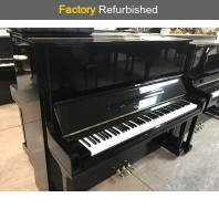 Factory Refurbished Yamaha U1M Polished Ebony Upright Piano All Inclusive Package