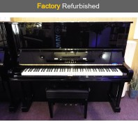 Factory Refurbished Yamaha U3H Polished Ebony Upright Piano All Inclusive Package