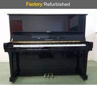 Factory Refurbished Yamaha U3M Polished Ebony Upright Piano All Inclusive Package