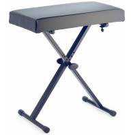 Adjustable Height Black Keyboard Stool with Extra Padded Top