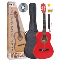 Palma 3/4 Size Classical Guitar Package - Red