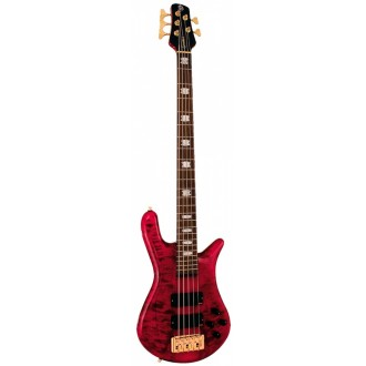 Spector Euro 5LX Gloss Black Cherry 5 String Bass Guitar with EMG Pickups