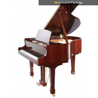 Steinhoven SG148 Polished Mahogany Baby Grand Piano All Inclusive Package