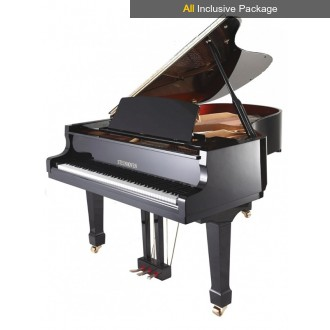 Steinhoven SG183 Polished Ebony Grand Piano All Inclusive Package