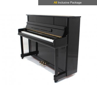 Steinhoven SU 112 Polished Ebony Upright Piano All Inclusive Package