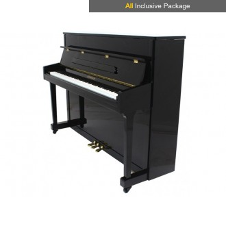 Steinhoven SU 113 Polished Ebony Upright Piano All Inclusive Package
