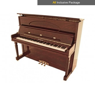 Steinhoven SU128 Polished Mahogany Upright Piano All Inclusive Package
