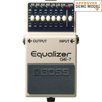Boss GE-7 Equalizer Demo Model