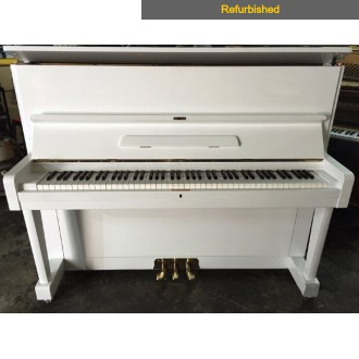 Refurbished Yamaha U1D Polished White Upright Piano All Inclusive Package