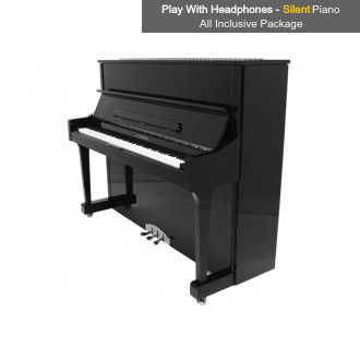 Steinhoven SU 121 Polished Ebony Upright Piano with FreeKey Silent System All Inclusive Package
