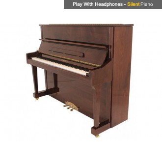 Steinhoven SU 121 Polished Mahogany Upright Piano with FreeKey Silent System