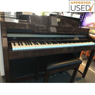 Used Yamaha CLP380 Polished Mahogany Digital Piano